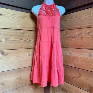 Coral Crochet Lucky Brand Dress